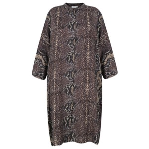 Masai Clothing Losetta Snakeskin Shirt Dress