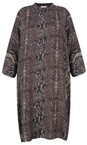 Masai Clothing Twill Losetta Snakeskin Shirt Dress
