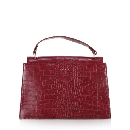 Inyati Olivia Croco Top Handle Bag - Brown