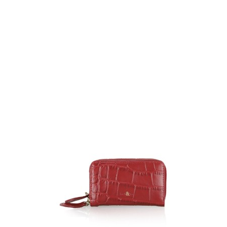 Bell & Fox Ava Double Zip Matinee Purse - Red