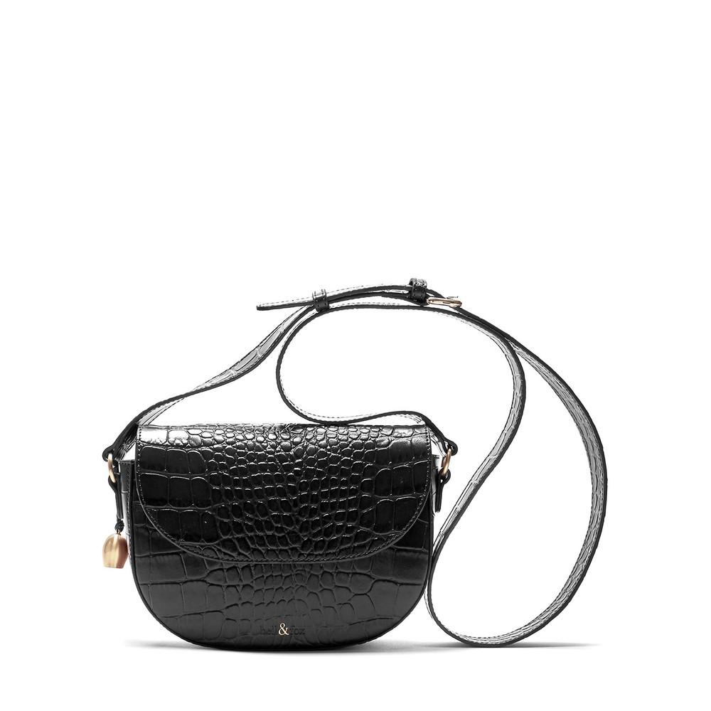 Bell & Fox Callie Mini Saddle Cross Body Bag Black