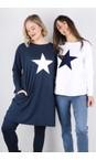 Chalk White / Navy Tasha Star Top