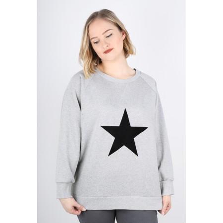 Chalk Ruby Star Sweatshirt  - Grey