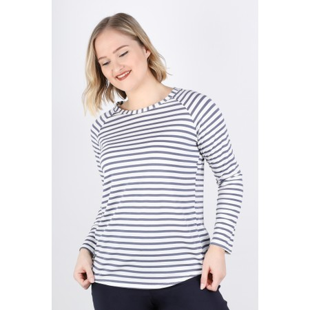 Chalk Tasha Striped T-Shirt - Black
