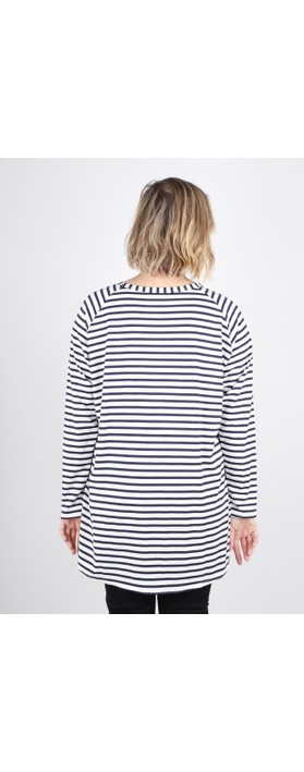 Chalk Robyn Stripe Top Navy / White