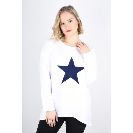 Chalk Robyn Star Top - White