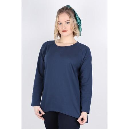 Chalk Robyn Plain Jersey Top - Blue