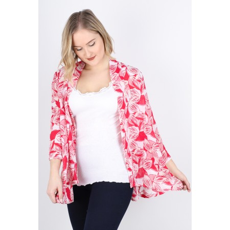 Adini Anguilla Print Kayla Kimono - Pink