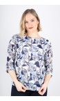 Adini Royal Blue Anguilla Print Rina Blouse