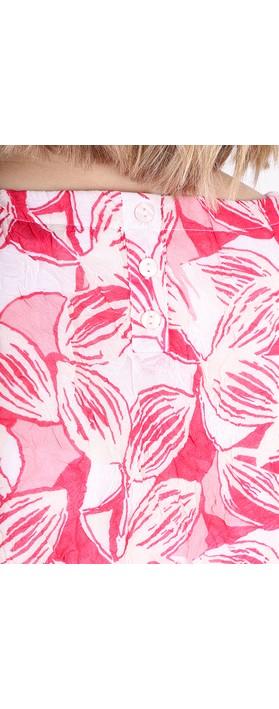 Adini Anguilla Print Rina Blouse Fiesta Pink