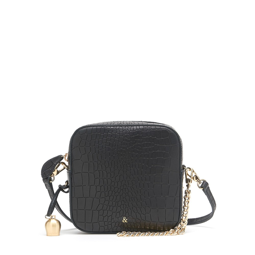 Bell & Fox Marlo Mini Square Bag Black
