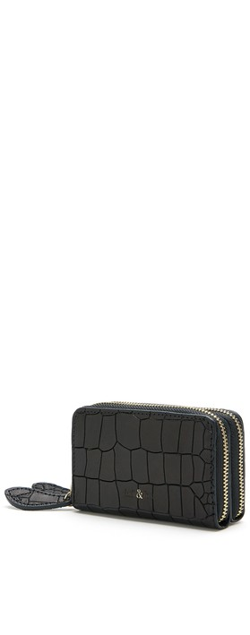 Bell & Fox Ava Mini Double Zip Purse Black