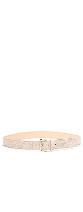 Bell & Fox Erin Croc Leather Belt Powder