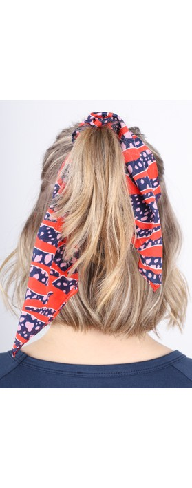 Mercy Delta Printed Scrunchie Tiger Shark Wild