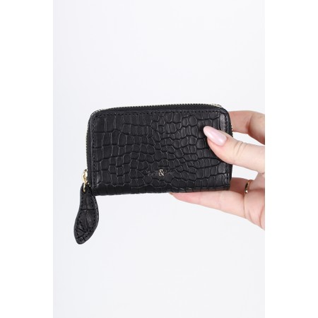 Bell & Fox Ava Mini Double Zip Purse - Black