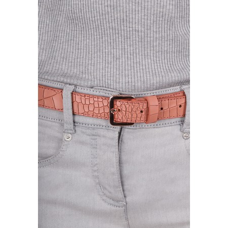 Bell & Fox Erin Croc Leather Belt - Red