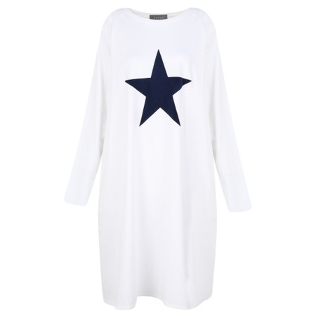 Chalk Brody Star Dress - White