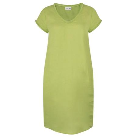 Foil Fringe Benefits Linen Dress - Green