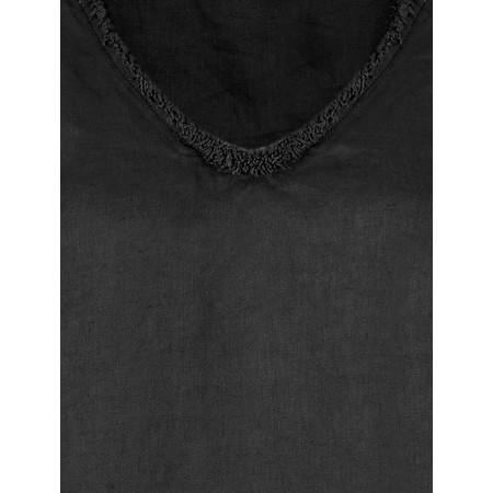 Foil Fringe Benefits Linen Dress - Black