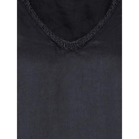 Foil Fringe Benefits Linen Dress - Blue