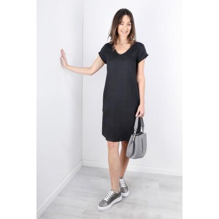 Foil Fringe Benefits Linen Dress - Grey