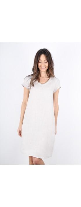 Foil Fringe Benefits Linen Dress Sandy