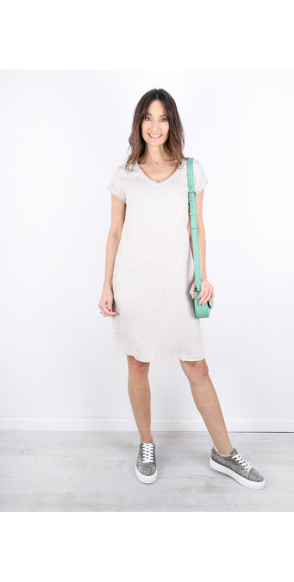 Fringe Benefits Linen Dress main image