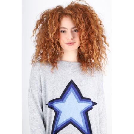 Luella Stella Nova Cashmere Blend Jumper  - Blue