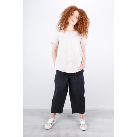 Foil Broadening Horizons Linen Trousers - Grey