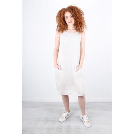 Foil Easy Breezy Linen Dress - Beige