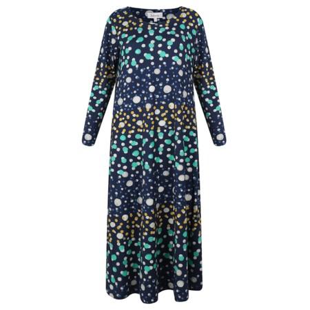 Sahara Watercolour Spot Jersey Dress - Multicoloured