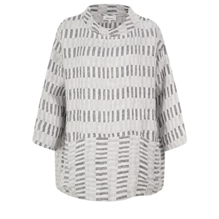 Sahara Checker Board Linen Boxy Top - Multicoloured