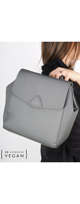 Inyati Thalie Faux Leather Backpack Mid Grey