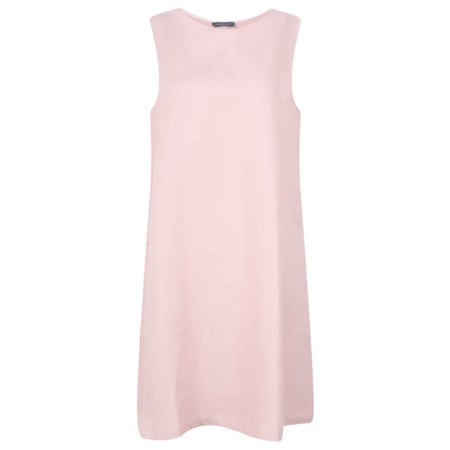 Chalk Jane Linen Dress - Pink