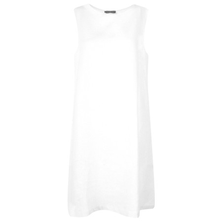 Chalk Jane Linen Dress - White