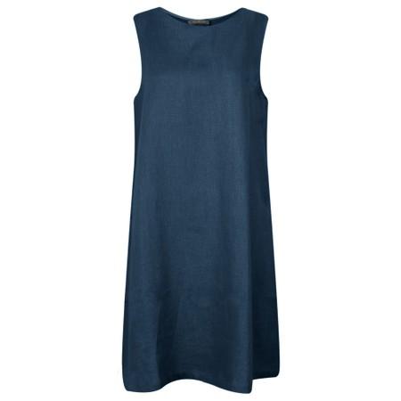 Chalk Jane Linen Dress - Blue