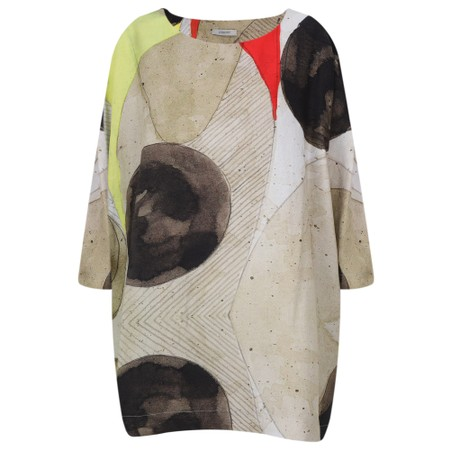 Crea Concept Abstract Print Tunic - Multicoloured