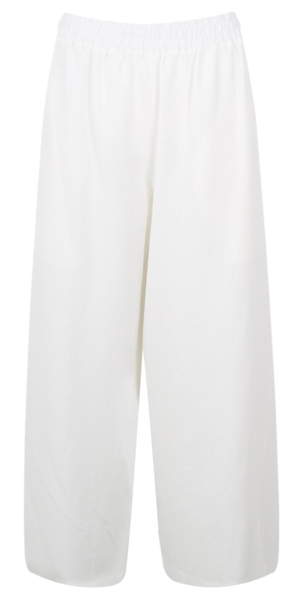 Wide Leg Linen Blend Trousers main image