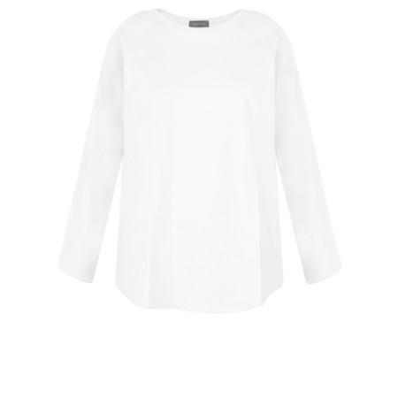 Chalk Tasha Plain Jersey Top - White