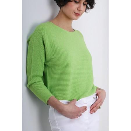 Fenella  Janey Rib Easyfit Jumper - Green