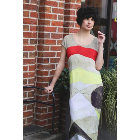 Crea Concept Abstract Print Dress - Multicoloured