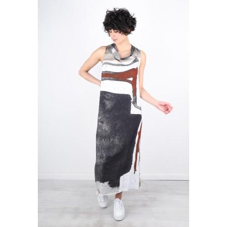 Crea Concept Abstract Print Cowl Neck Long Dress - Multicoloured
