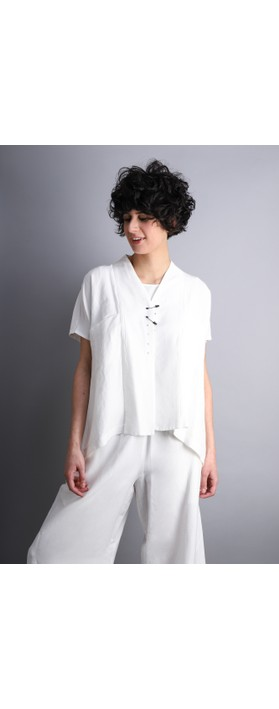 Crea Concept Safety Pin A-shape Jacket Off White