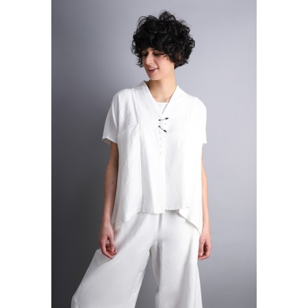 Crea Concept Safety Pin A-shape Jacket - White