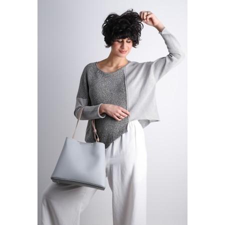 Crea Concept Linen Blend Asymmetric Hem Jumper - Grey