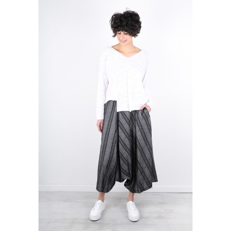 Crea Concept Cotton Asymmetric Hem Fine Knit Jumper - White