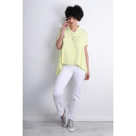 Robell Bella  White Slim Fit Full Length Jean - White