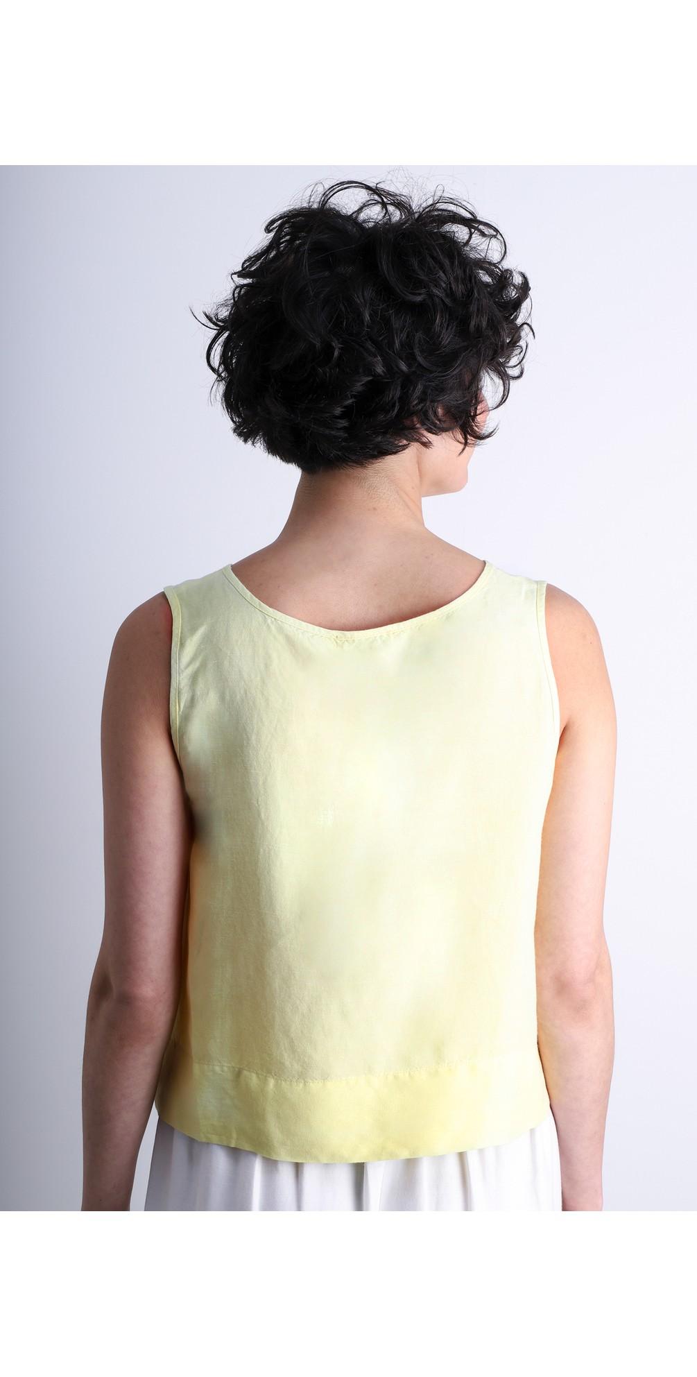 Linen Blend Shell Top main image