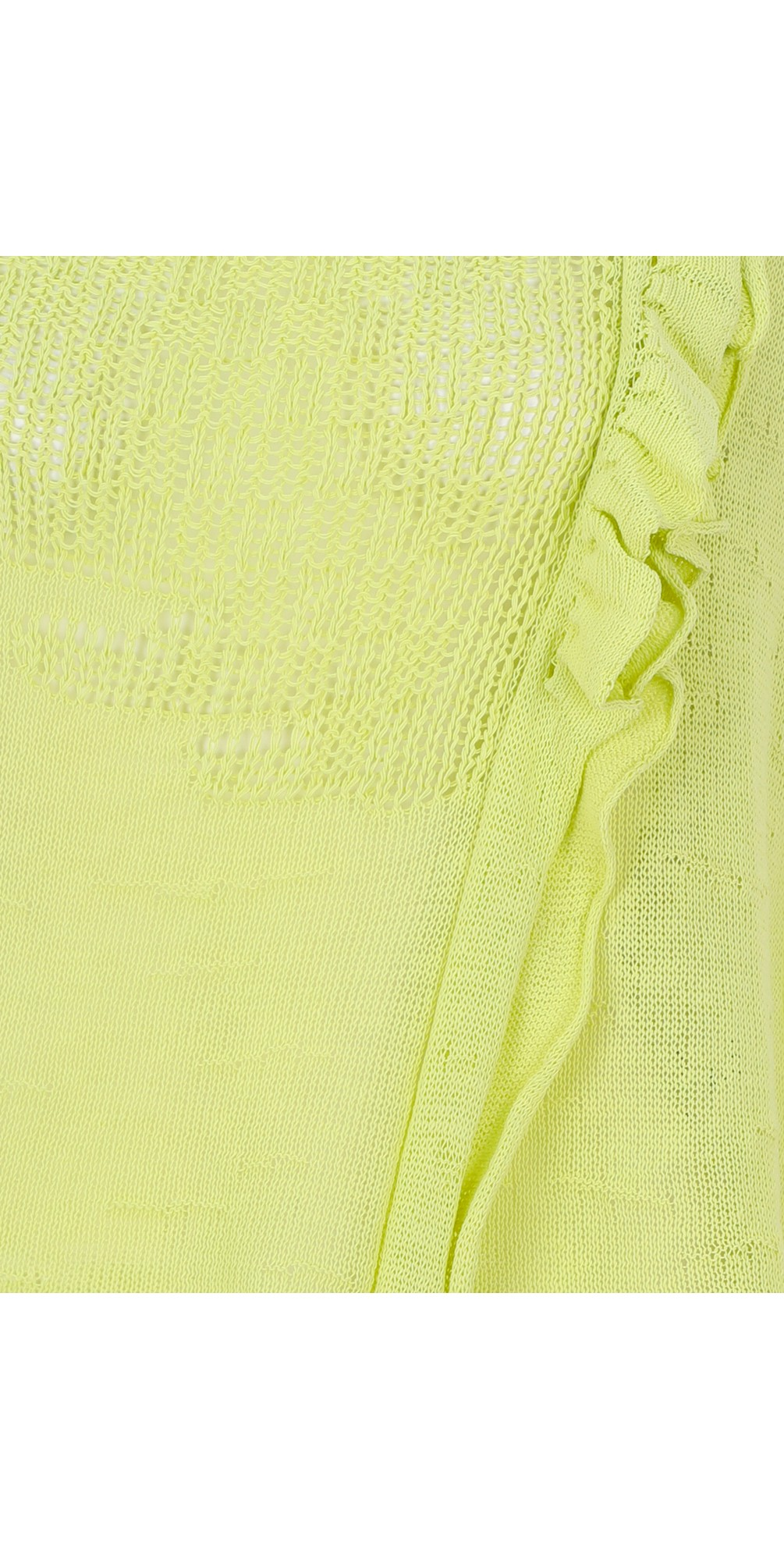 Asymmetric Mesh Frill Knit Jumper main image
