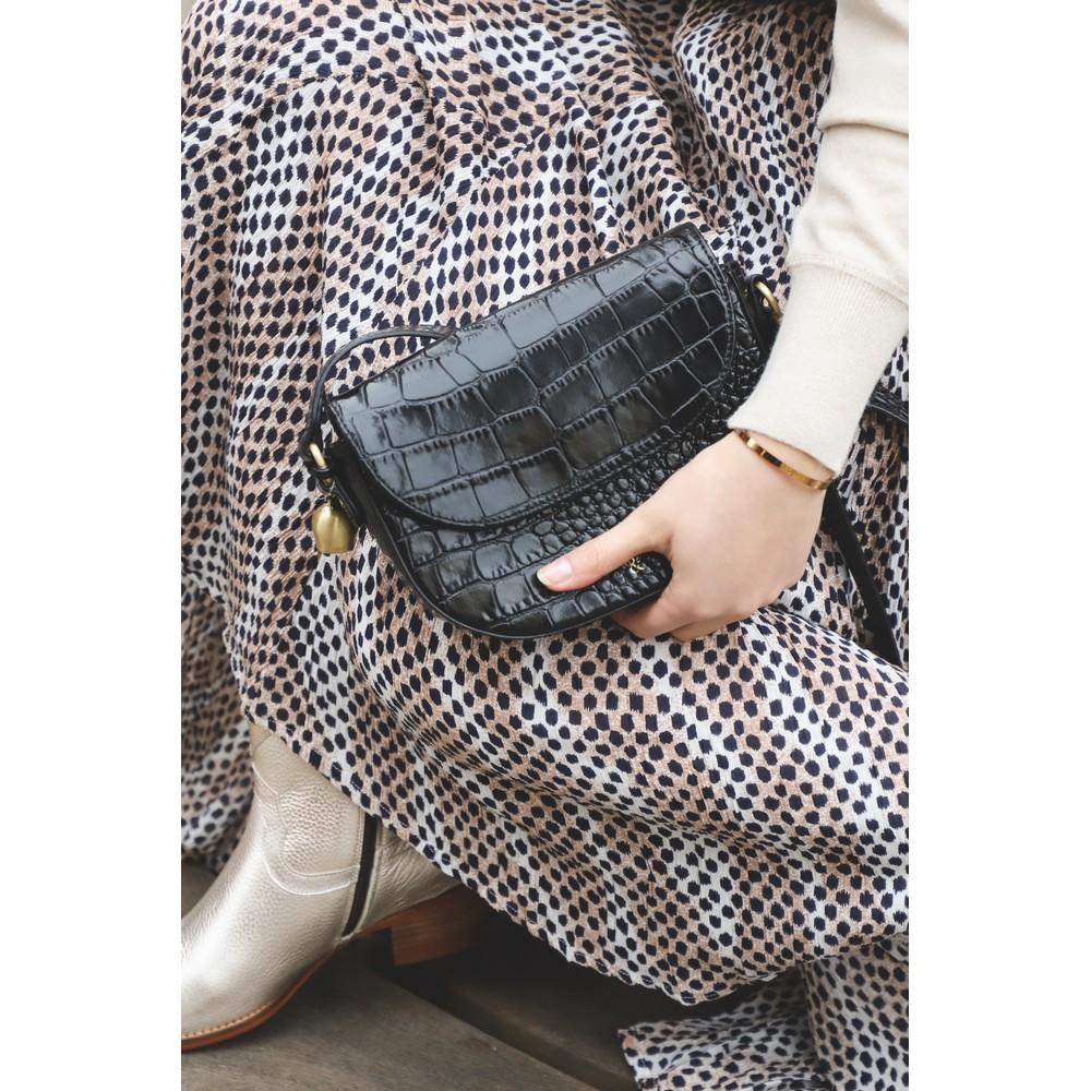 Adini Blair Printed Midi Skirt Mink